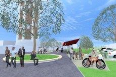 amenajare urbana si peisagera - Razvan Botofan - perspectiva piateta