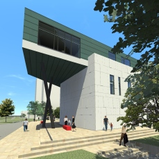 proiect diploma arhitectura - Razvan Botofan - exterior colt