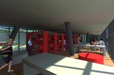 proiect diploma arhitectura - Razvan Botofan -interior biblioteca