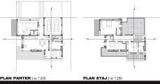 Casa moderna cu etaj-planuri- Razvan P. Botofan - Birou de arhitectura