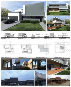 Casa moderna cu etaj-plansa prezentare- Razvan P. Botofan - Birou de arhitectura