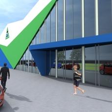 acces modern hala industriala - Razvan P. Botofan - Birou de arhitectura