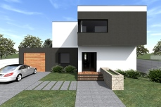 Casa moderna cu garaj- Razvan P. Botofan - Birou de arhitectura
