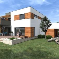 Casa moderna cu etaj-Razvan P. Botofan - Birou de arhitectura Timisoara