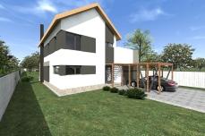 carport modern - Casa moderna cu etaj- Razvan P. Botofan - Birou de arhitectura