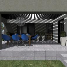 terasa moderna casa - arhitect Razvan Botofan - Birou de arhitectura Timisoara