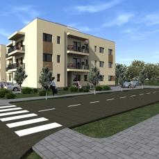 1ab proiect locuinte colective - apartamente moderne - arhitect Razvan Botofan - Birou de arhitectura Timisoara