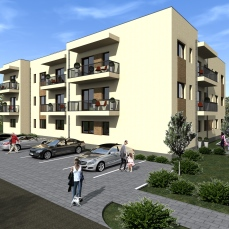 3ab proiect locuinte colective - apartamente moderne - arhitect Razvan Botofan - Birou de arhitectura Timisoara