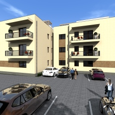 8ab proiect locuinte colective - apartamente moderne - arhitect Razvan Botofan - Birou de arhitectura Timisoara
