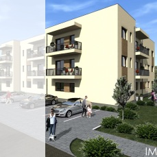 cB proiect locuinte colective - apartamente moderne - arhitect Razvan Botofan - Birou de arhitectura Timisoara